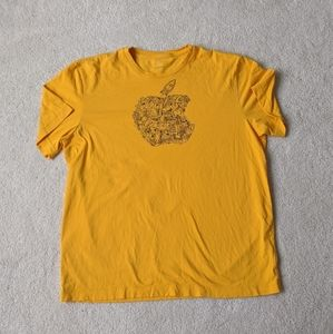 3 for $20 - APPLE STORE  Yellow Sketch Logo - L